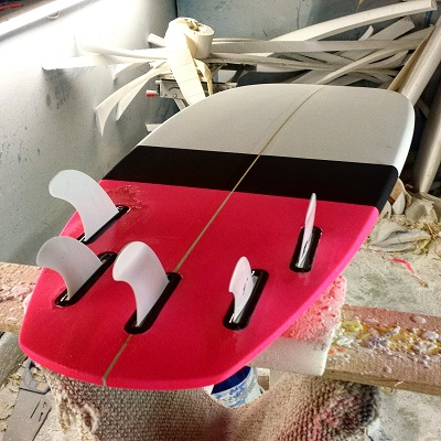 Custom Surfboard with Future fin setup