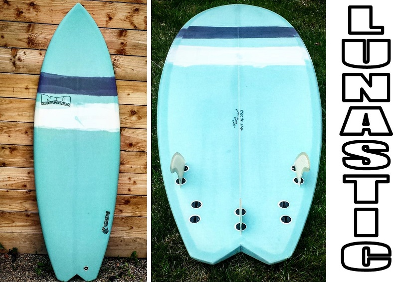 Lunastic groveler for small wave madness nd surfboards uk for Hybrid fish surfboard