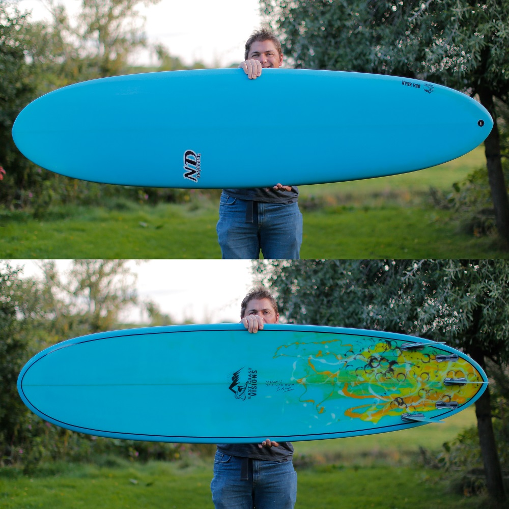 7ft Sea Bean Surfboard, Eastcoastvisions