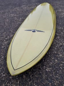 Classic single fin surfboards